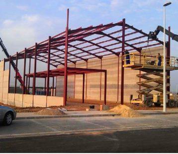 Construcción nave industrial Agrifluide en Cordoba .