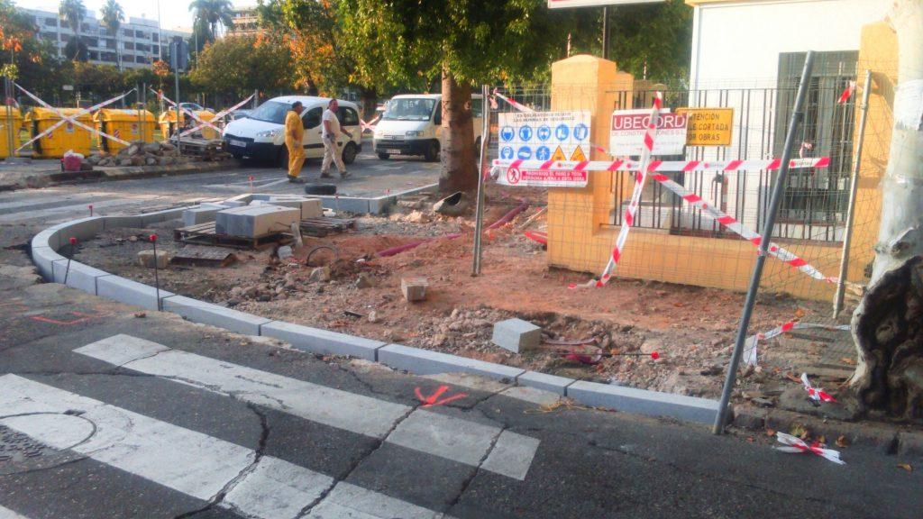 Reforma Acerado Cruz Roja. Ubecord Empresa de construcción y reformas en Córdoba, especializada en obras nuevas, rehabilitación y reformas
