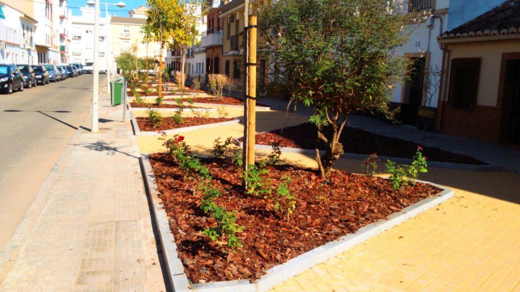 Zonas Verdes Calle Feria. Ubecord Empresa de construcción y reformas en Córdoba, especializada en obras nuevas, rehabilitación y reformas