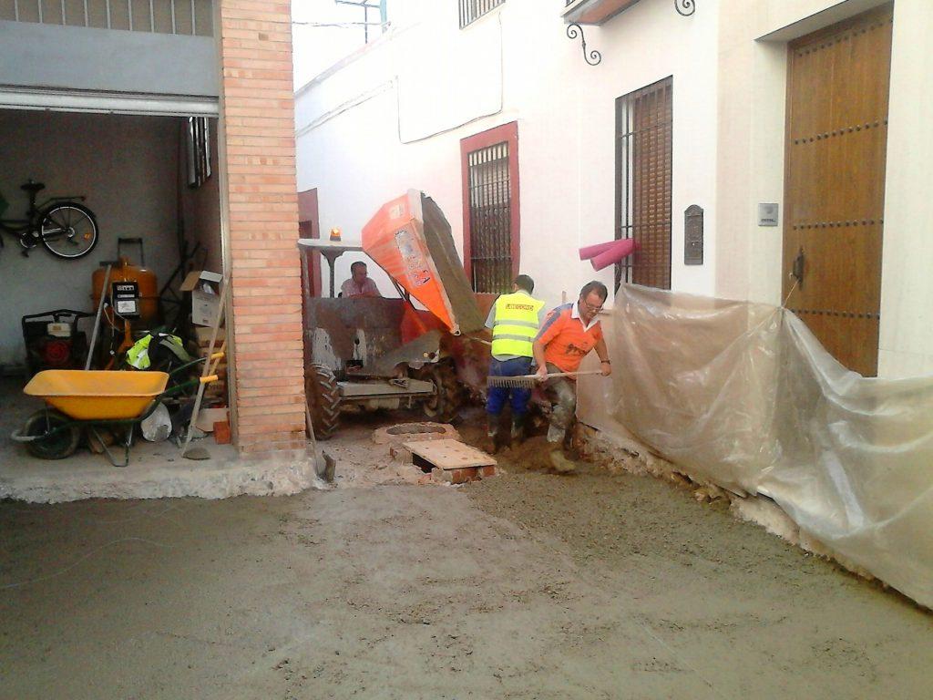 Pavimentación Calle Crucifijo. Ubecord Empresa de construcción y reformas en Córdoba, especializada en obras nuevas, rehabilitación y reformas